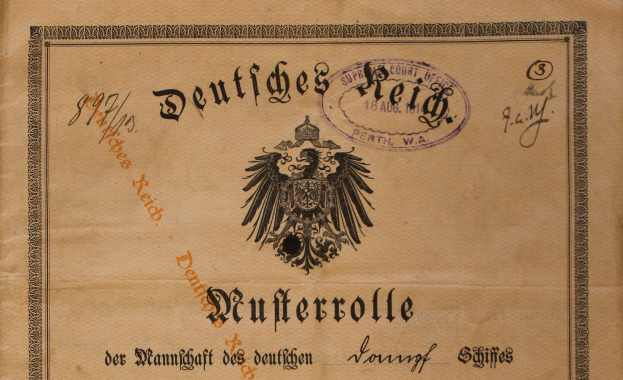 ship's articles Neumunster 1913/1914