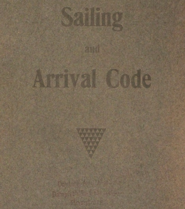 Sailing and Arrival code, German-Australian Line 1914