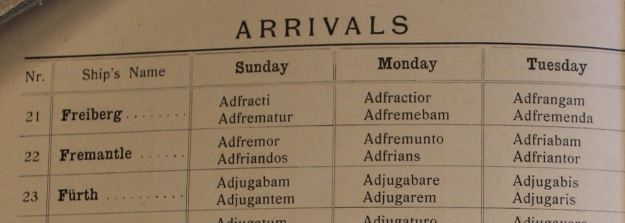 arrival code, GAL, 1914