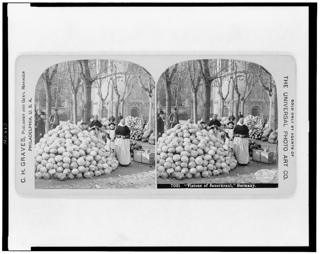 Sauerkraut, Markt ,1900