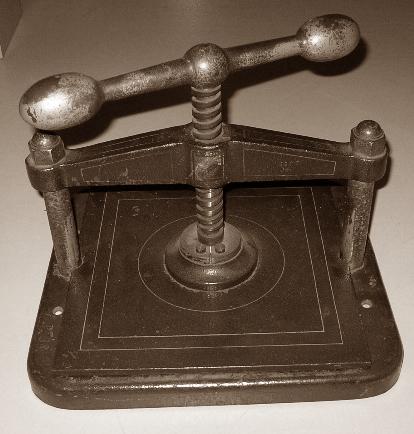 Kopierpresse, Copierpresse, um 1900