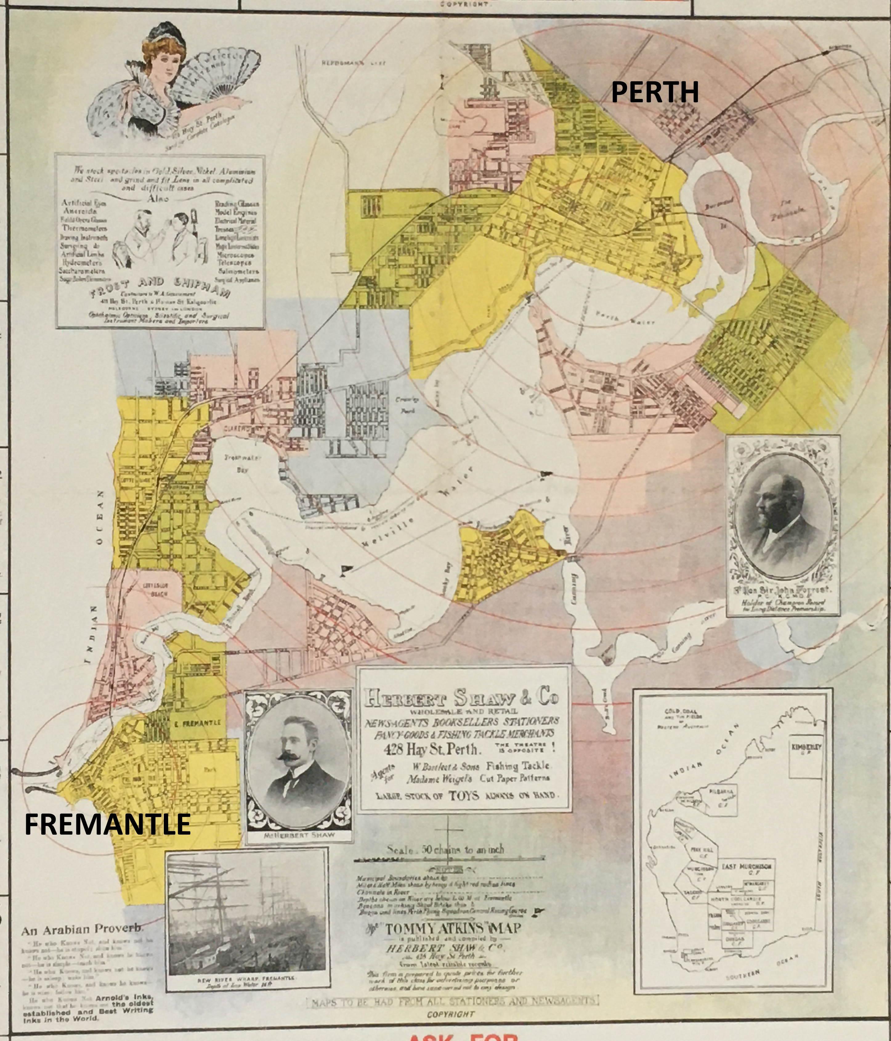 Perth map 1900