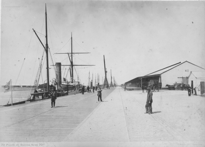 Buenos Aires harbour early 20th century