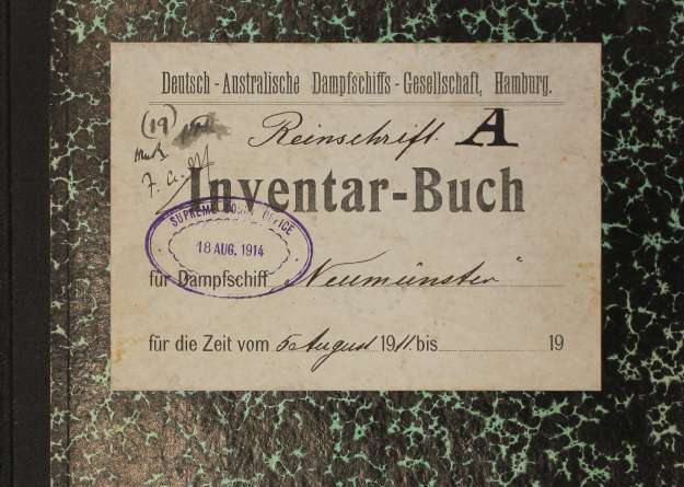 inventory book, Neumünster, 1911 - 1914