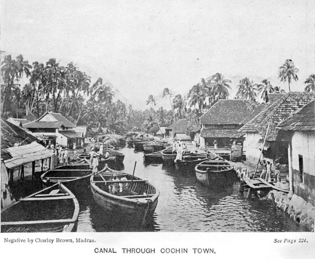Canal in Cochin 1913