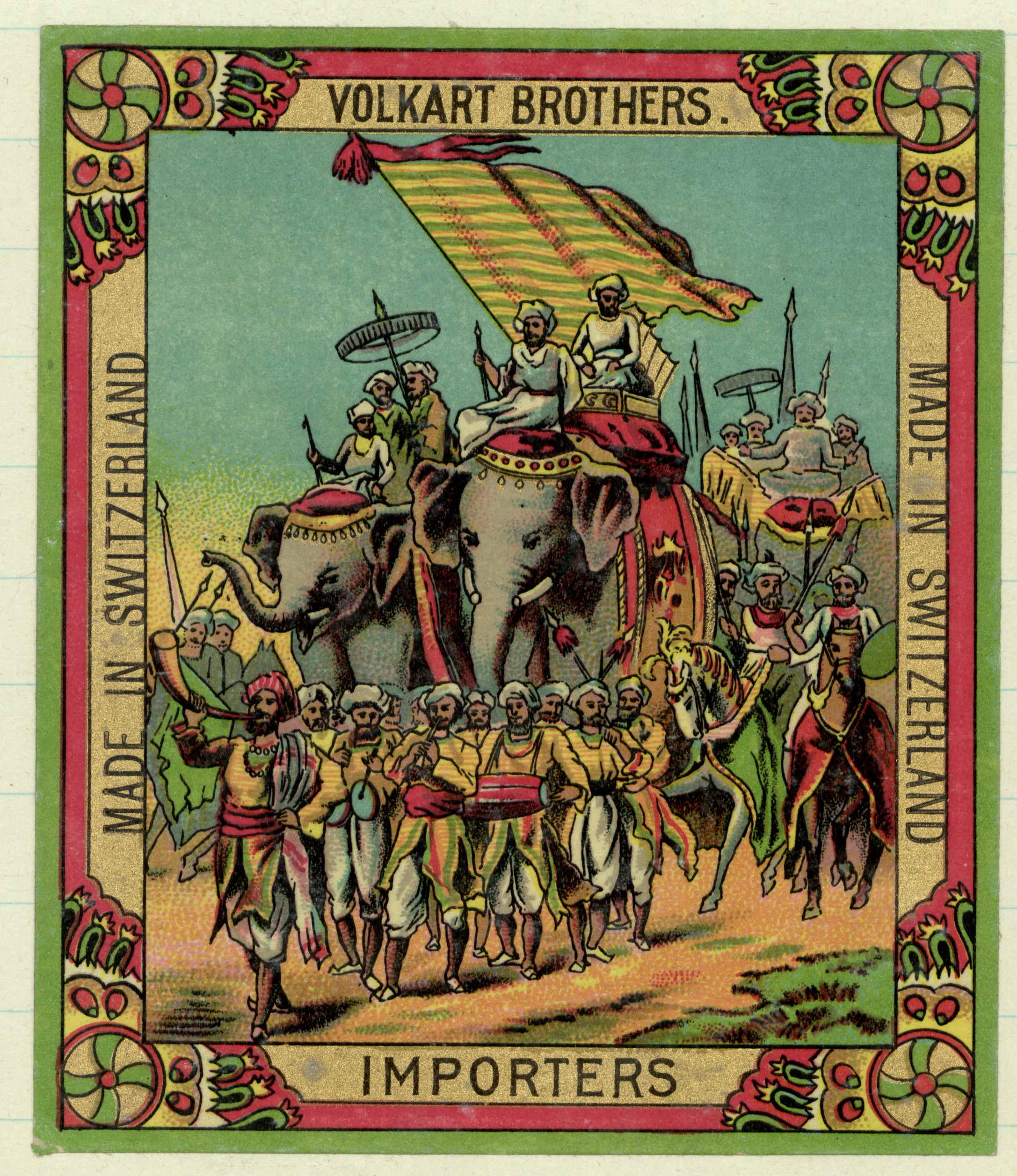 Volkart Brothers, label