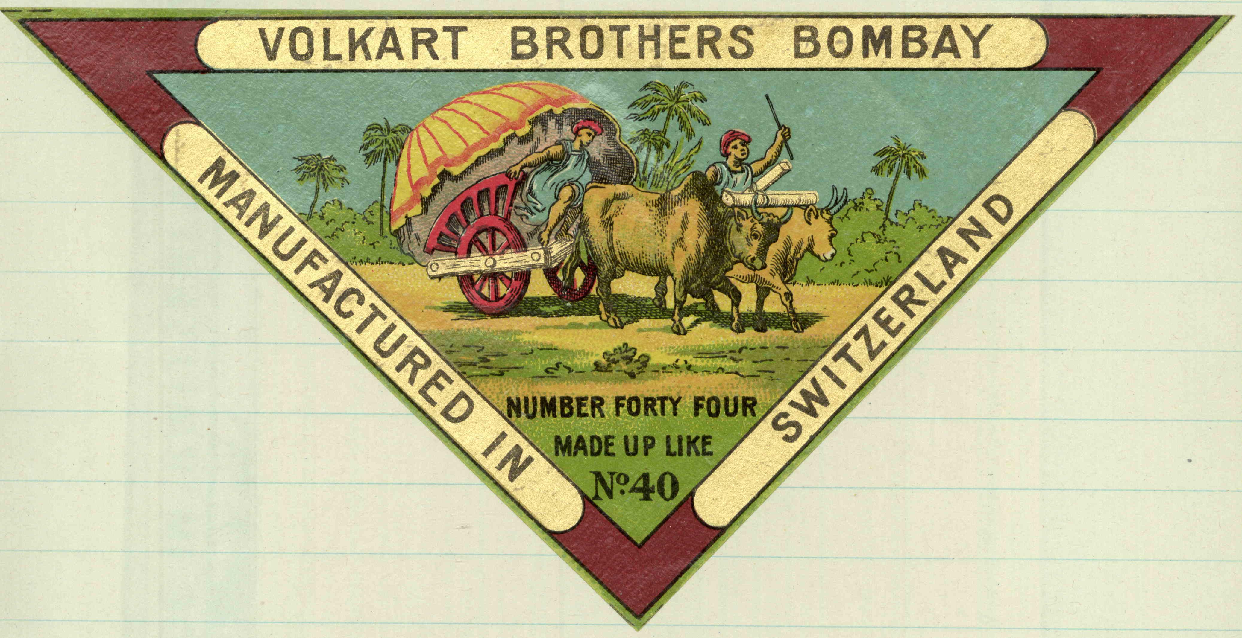 Volkart Brothers Yarn Label