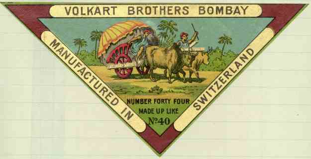 Volkart Brothers Yarn Label