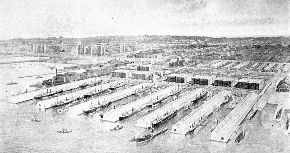 Bush Docks 1914, Brooklyn, New York