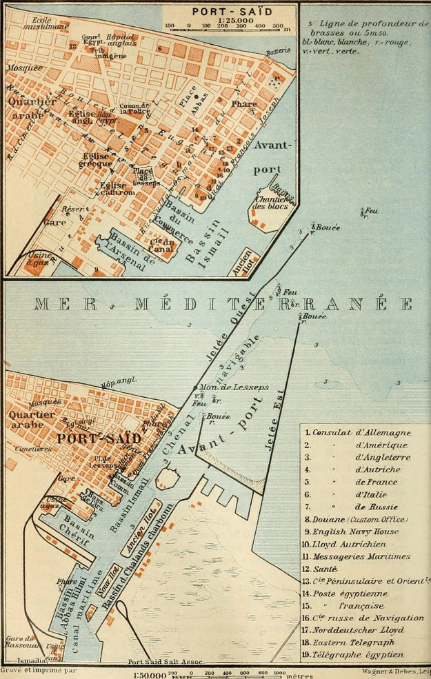 Port Said map 1914