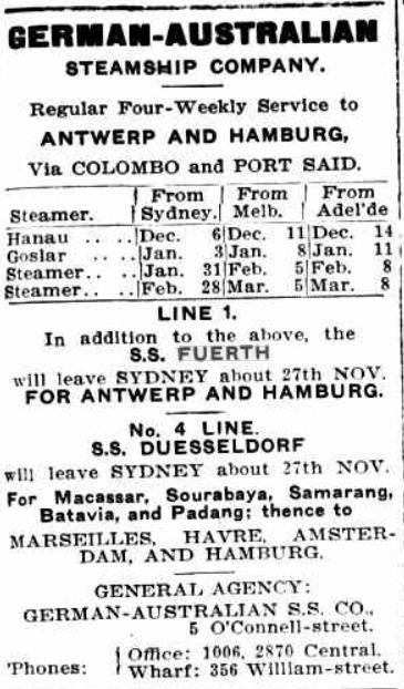 German Australian Line 1912