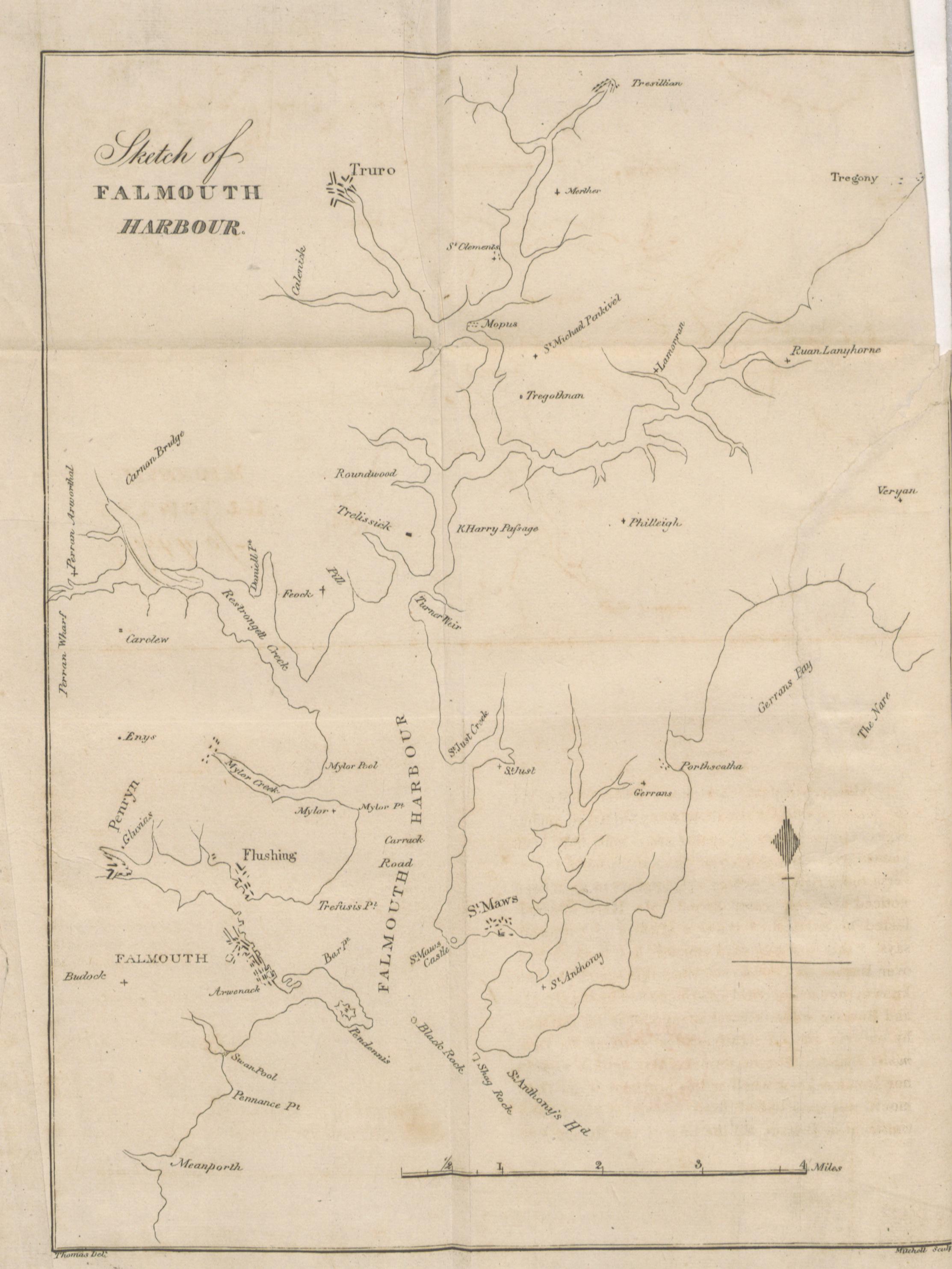 Falmouth map 1827
