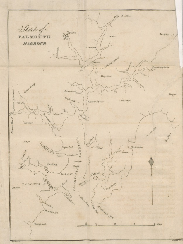 Falmouth map 1827