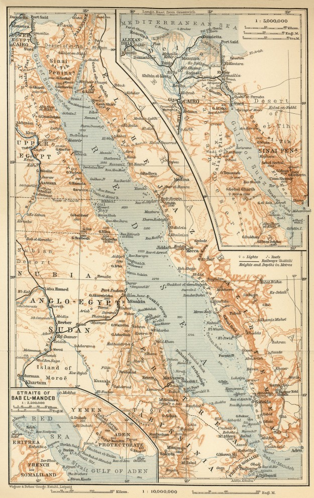 red sea baedeker 1914