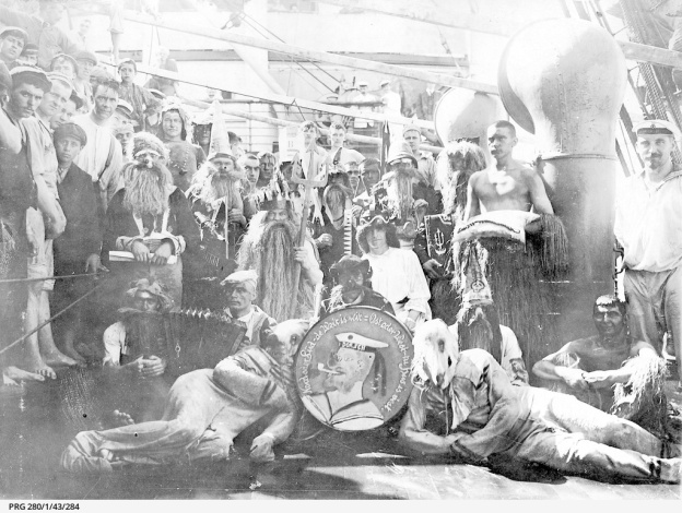 line ceremony 1905, NDL ship Zieten