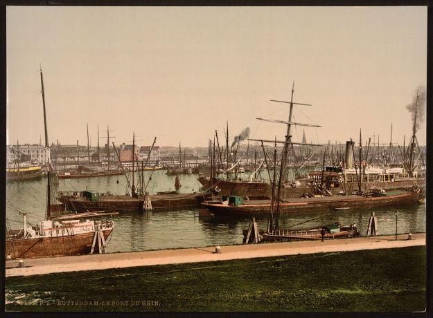 Rheinhafen Rotterdam 1900