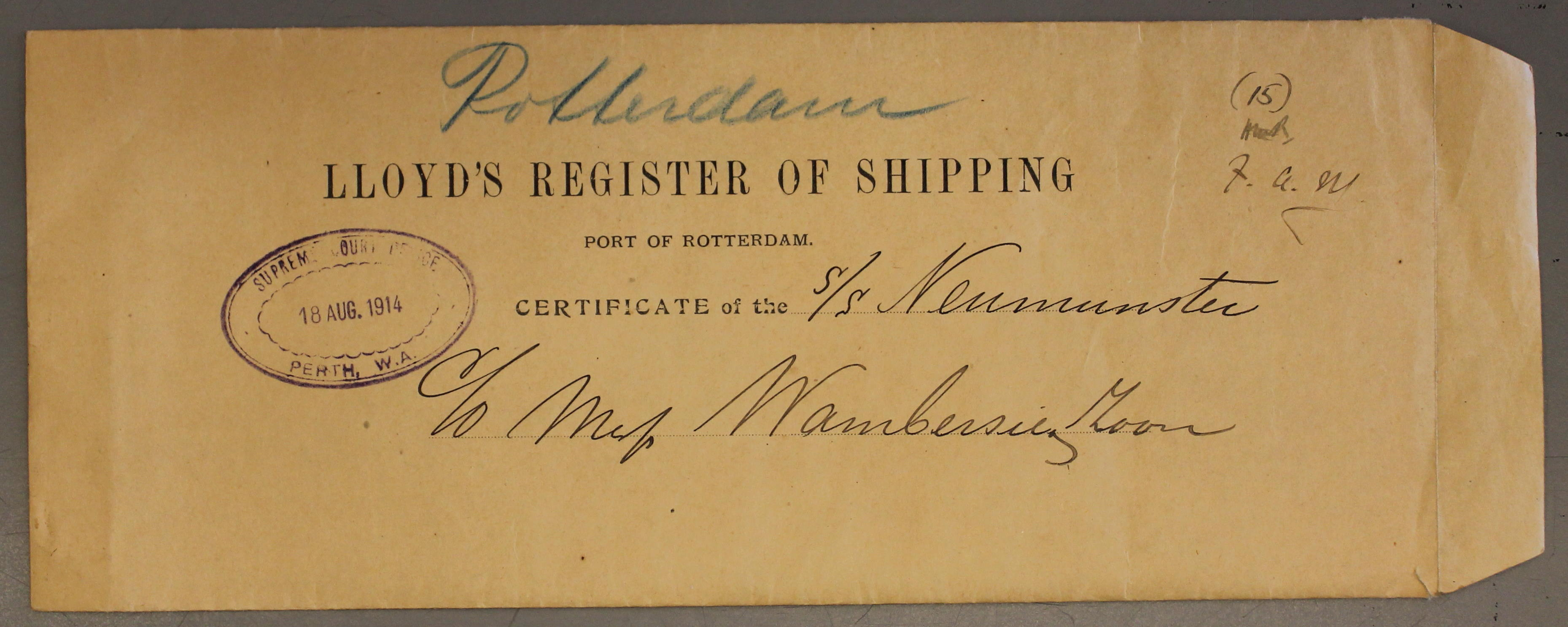 Lloyd's Register of Shipping 1912