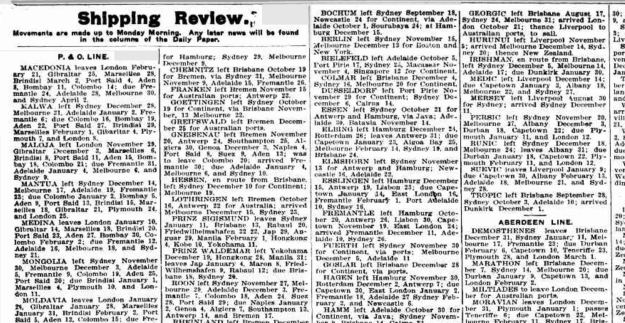 shipping review 1912
