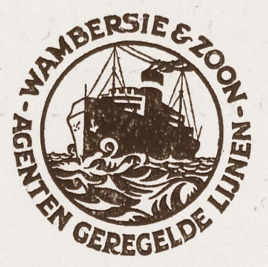 Logo der Fa. Wambersie & Zoon, ca. 1910