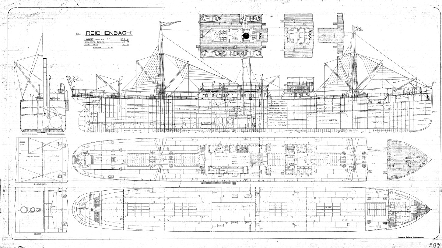 Dampfschiff Reichenbach, 1907, Generalplan