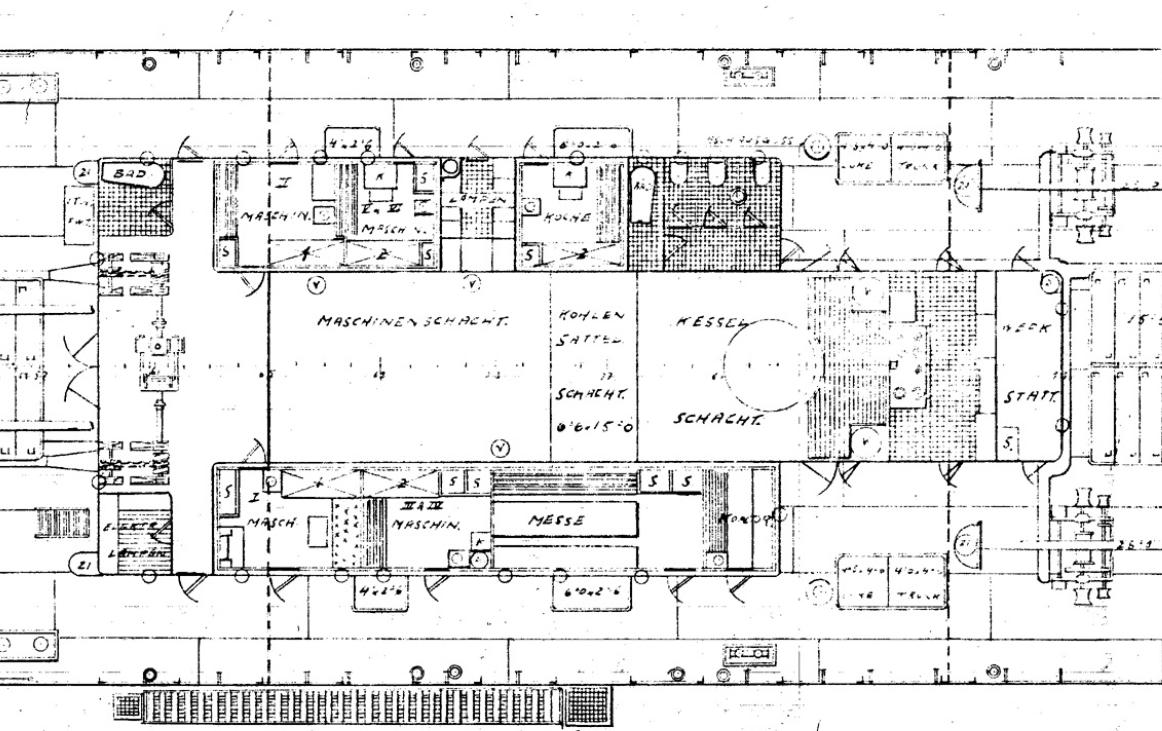 Dampfschiff Reichenbach, Maschinenhaus, 1907