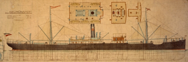 Dampfschiff Neumünster 1907