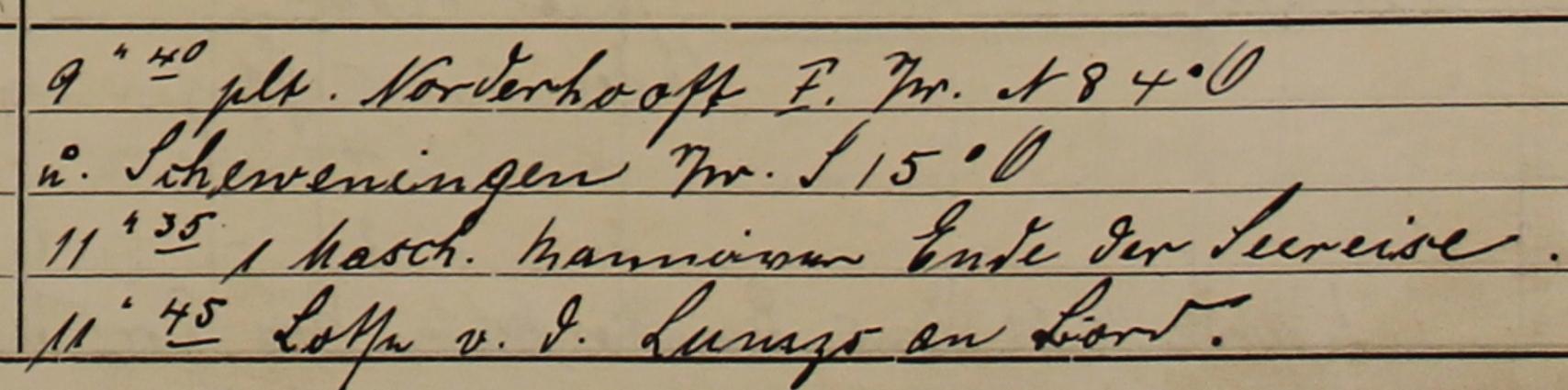 Logbuch Neumünster 1914