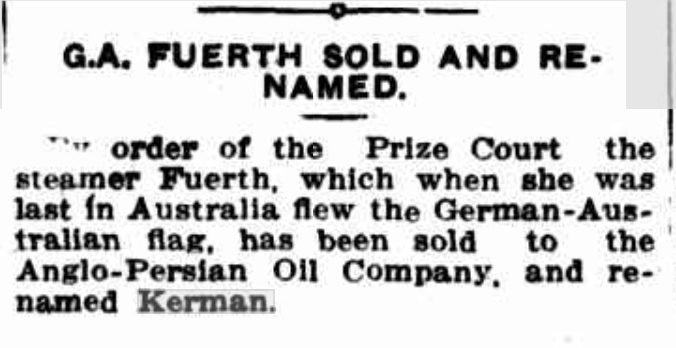 Fuerth sold, Kerman
