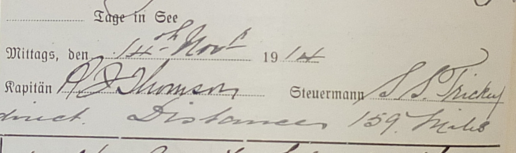 S S Trickey, R J Thomson 1914