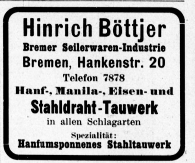 Hinrich Bötjer, Bremer