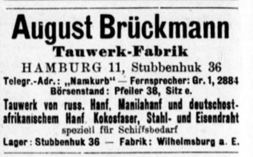August Brückmann, Hamburg