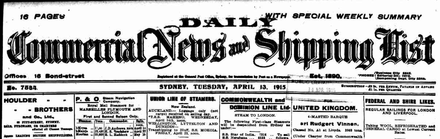 Daily Commercial News 1915