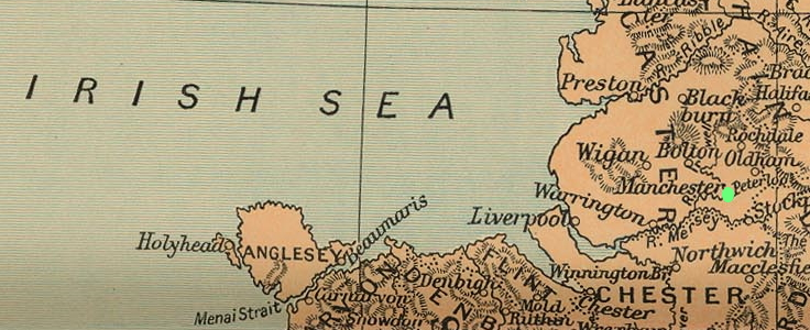Liverpool Manchester map 1912