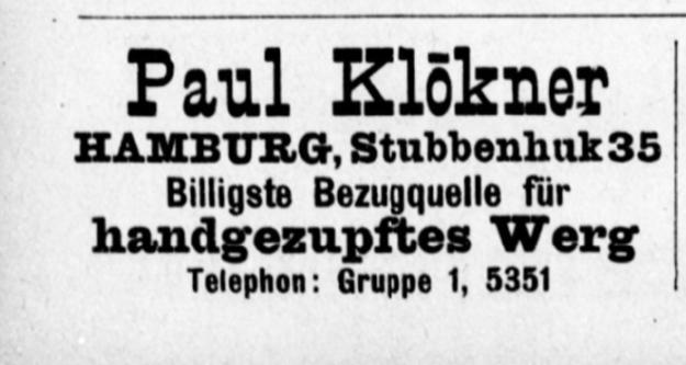 Paul Klökner Hamburg