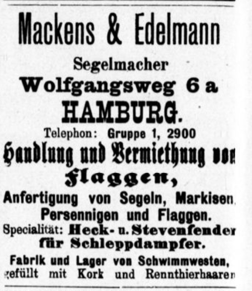 Mackens & Edelmann, Hamburg