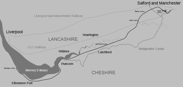 Manchester Ship Canal map