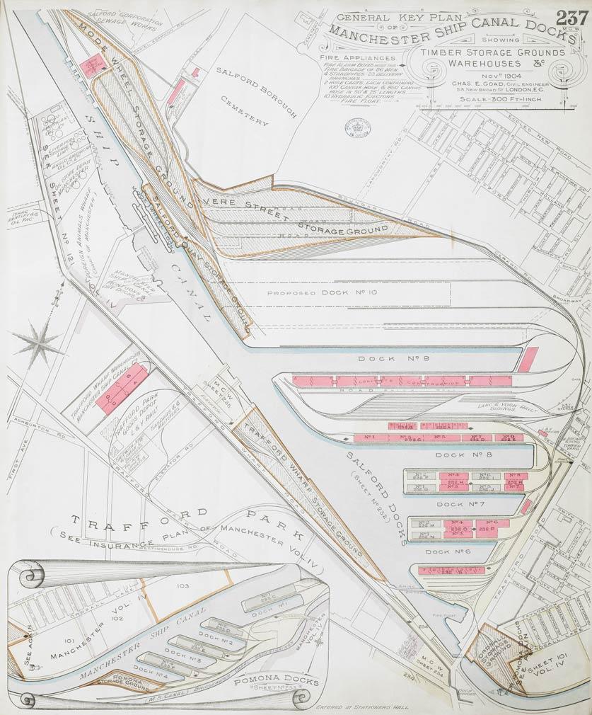 Salford Docks, Trafford Park 1904