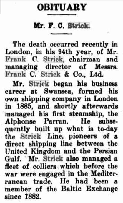 Frank Strick 1943
