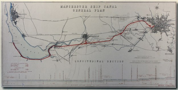 Manchester Ship Canal map 1890