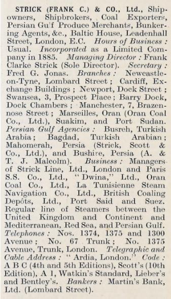 Frank C. Strick 1914