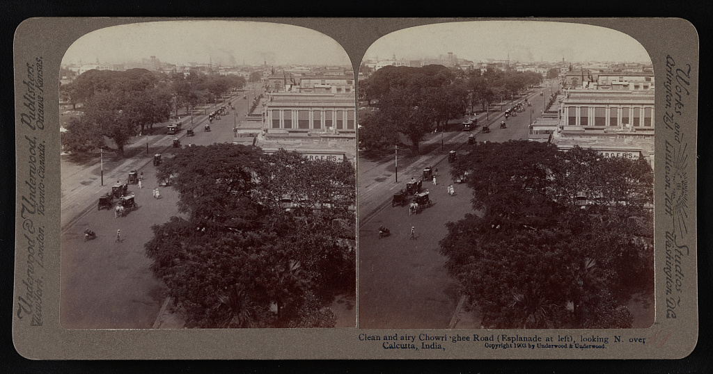 Chowrighee Road Calcutta 1903