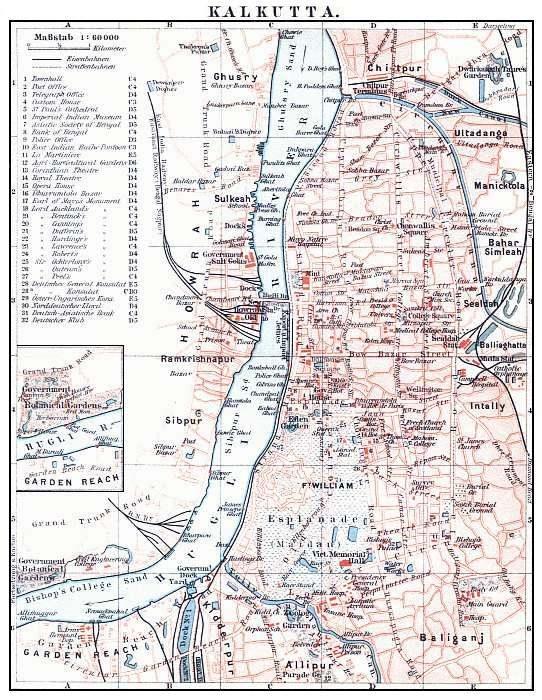 Calcutta city map 1912