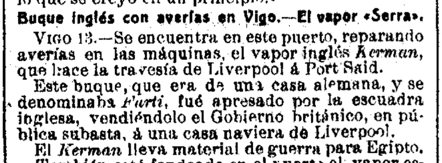 Kerman en Vigo 1915