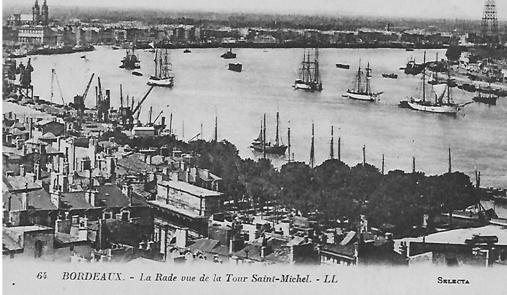 Bordeaux carte postal envoyée 1924