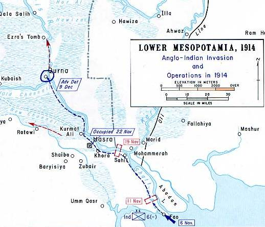 Anglo-Indian Invasion 1914 in Mesopotamia