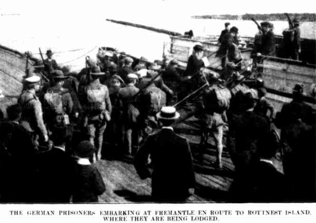 Fremantle Harbour, German Prisoners, August 1914