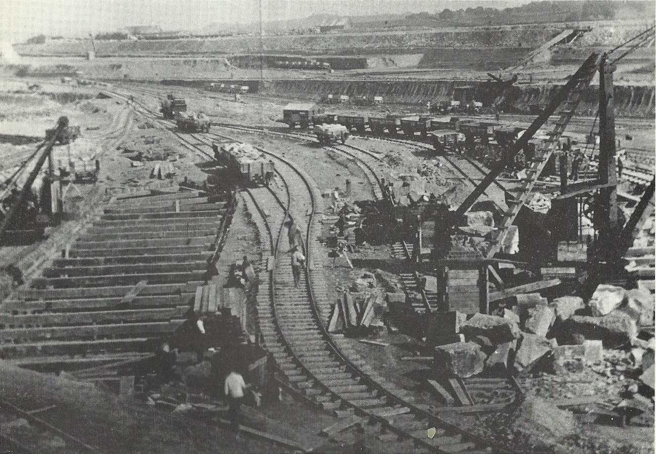Barry Docks under construction