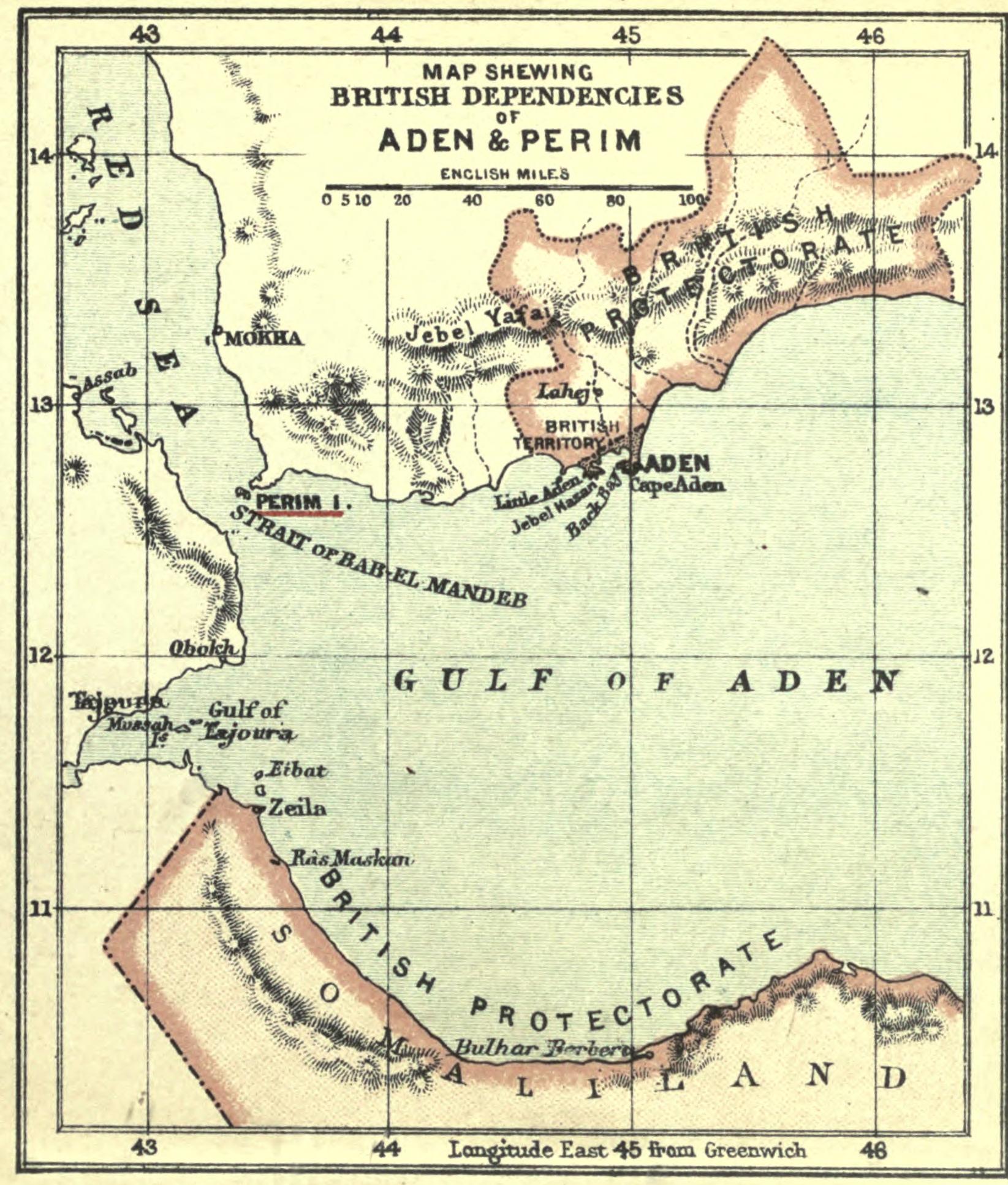 Aden Perim map 1906