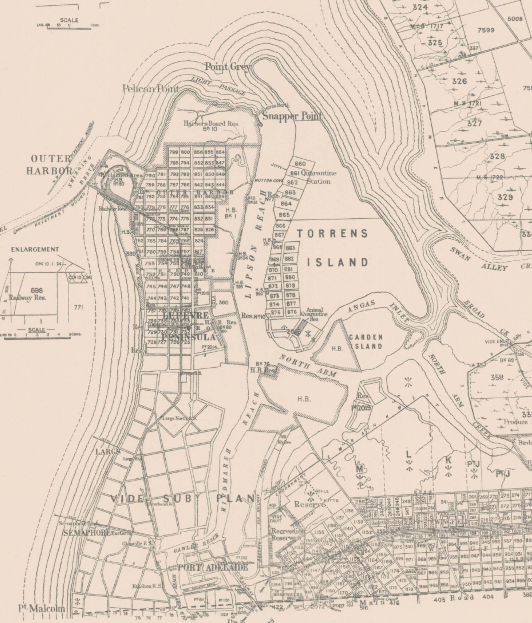 Adelaide map 1946