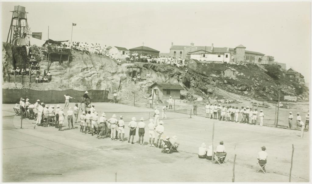 Trial Bay 1918 tennis match